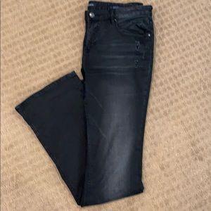 Vigors black bootcut jeans. 31x33.